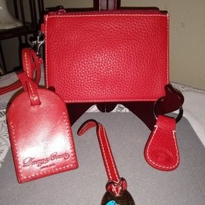Dooney and Bourke 4 Pc Red Accessory Set